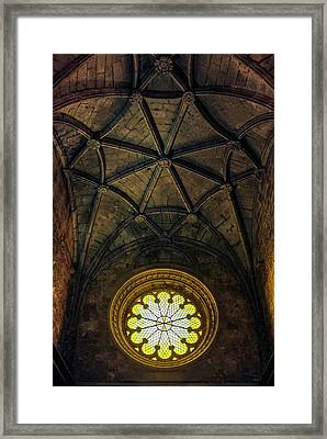 Inside Jeronimos Framed Print by Carlos Caetano