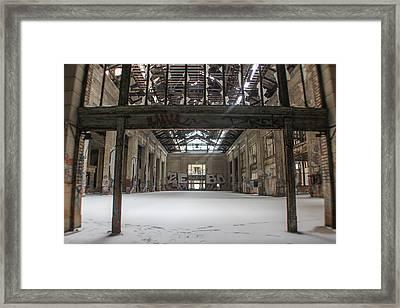 Inside Michigan Central Station Framed Print