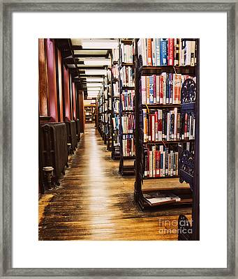 Inside Muskegon Library Framed Print by Emily Kay