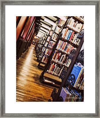 Inside Muskegon's Library Framed Print by Emily Kay