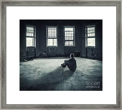 Inside My Darkness Framed Print
