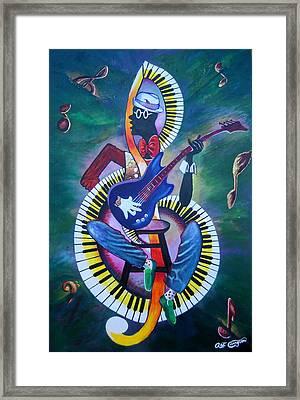 Inside My Music II Framed Print by Arthur Covington