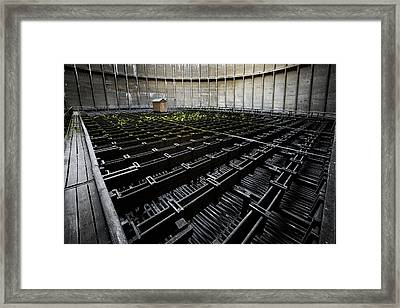 Framed Print featuring the photograph Inside Of Cooling Tower - Industrial Decay by Dirk Ercken