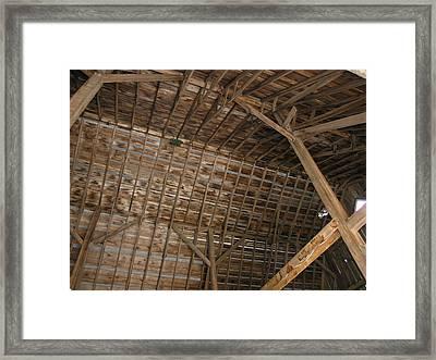 Inside Of The Barn Framed Print by Janis Beauchamp