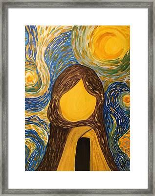 Inside Out Framed Print by Alia K Metref