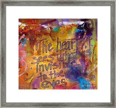 Inside Out Framed Print by Angela L Walker