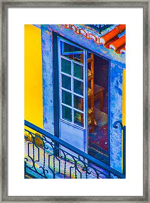 Inside Portugal Home Framed Print by Julie Palencia