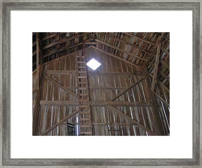 Inside The Barn Framed Print by Janis Beauchamp