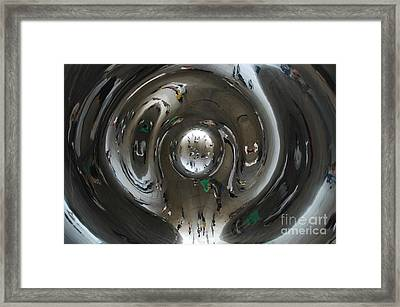 Inside The Bean Framed Print by Miguel Celis