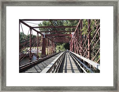 Inside The Bollman Truss Bridge At Savage Maryland Framed Print