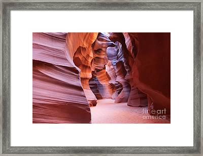 Inside The Canyon Framed Print by Bob and Nancy Kendrick