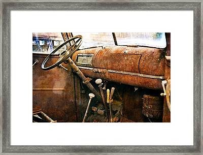 Inside The Chevy Truck Framed Print by Marty Koch