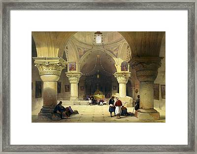 Inside The Church Of The Holy Sepulchre In Jerusalem Framed Print