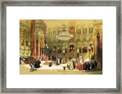Inside The Church Of The Holy Sepulchre Framed Print