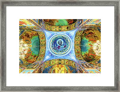 Inside The Church Of The Savior On Spilled Blood Framed Print