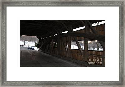 Inside The Covered Bridge...   # Framed Print