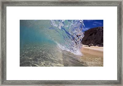 Inside The Curl Big Beach Maui Wave Framed Print