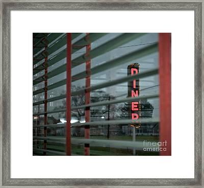 Inside The Diner Framed Print by Kathy Jennings