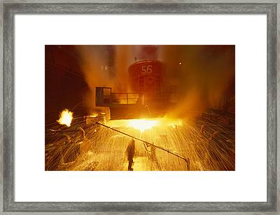 Inside The East-slovakian Steel Mill Framed Print