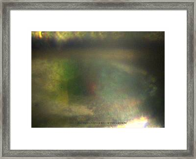 Inside The Eye Of End Of The Rainbow Framed Print by Phillip H George