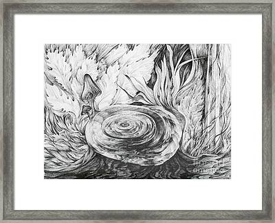 Framed Print featuring the drawing Inside The Forest by Anna  Duyunova