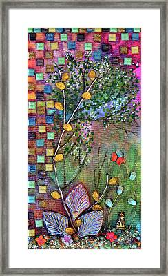 Inside The Garden Wall Framed Print