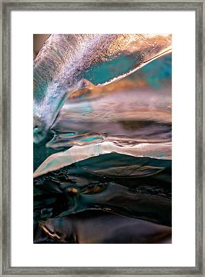 Framed Print featuring the photograph Inside The Iceberg by Rico Besserdich