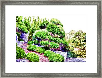 Inside The Japanese Garden Framed Print