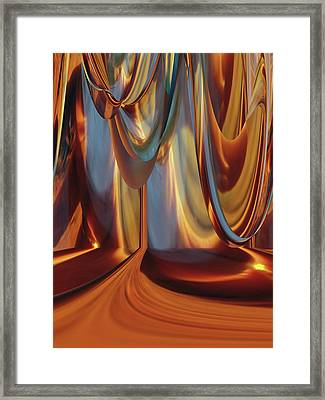 Inside The Lamp Framed Print