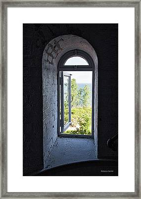 Inside The Lighthouse Framed Print
