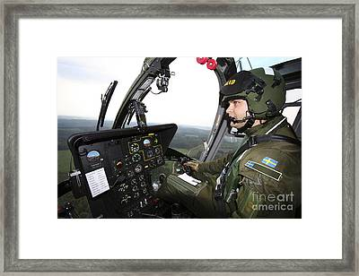Inside The Mbb Bo 105 Helicopter Framed Print by Daniel Karlsson