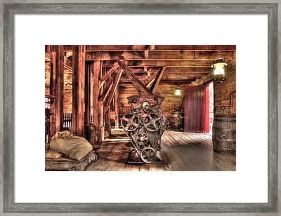 Inside The Mill Framed Print