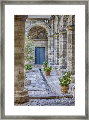 Inside The Monastery Of Saint Catherine In Arequipa, Peru Framed Print