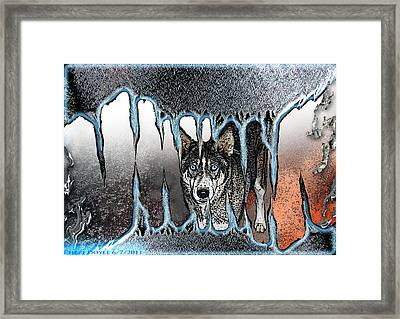 Inside The Monsters Jaws Framed Print by Cheri Doyle