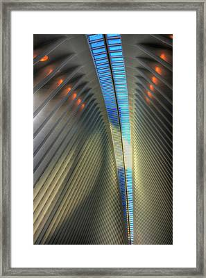 Framed Print featuring the photograph Inside The Oculus by Paul Wear