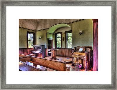 Inside The Oysterville Church  Framed Print