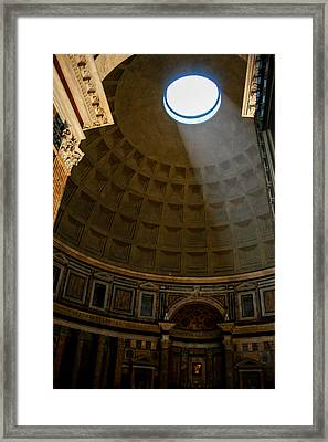 Inside The Pantheon Framed Print