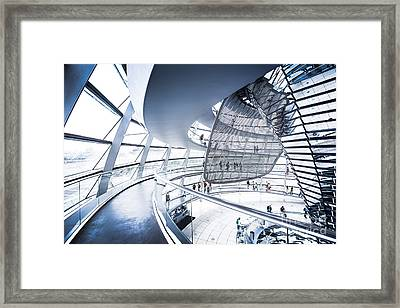 Inside The Reichstag Dome Framed Print