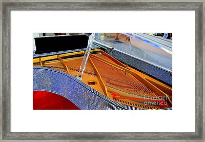 Inside The Rhinestone Piano Framed Print by Mary Deal