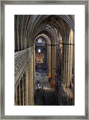 Inside The Salamanca Cathedral Framed Print by Farol Tomson