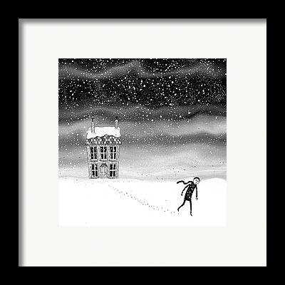 Snow On The Ground Framed Prints