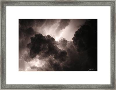 Inside The Storm Framed Print