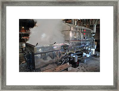 Inside The Sugar House Framed Print