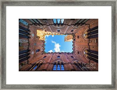Inside The Tower Framed Print