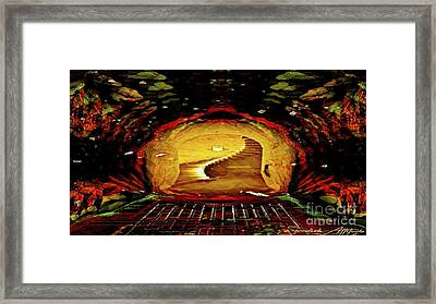 Inside The Tree House Framed Print by Swedish Attitude Design