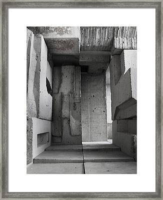 Inside The Walls 2 Framed Print by David Umemoto