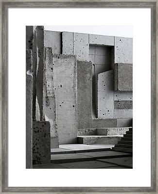 Inside The Walls 3 Framed Print by David Umemoto