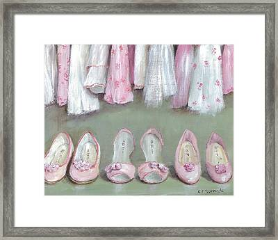 Inside The Wardrobe Framed Print by Gail McCormack