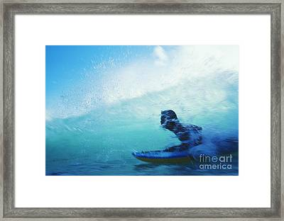 Inside The Wave Framed Print
