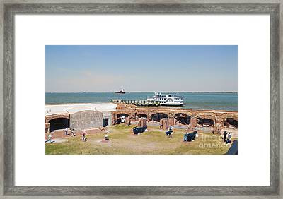 Inside View Of Fort Sumter Framed Print